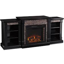 southern enterprises gallatin faux stone fireplace sylvane