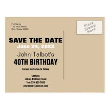 40th birthday save the date postcards zazzle