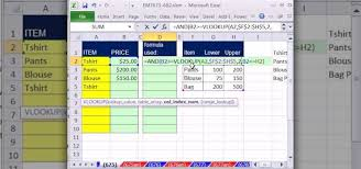 how to make a calculation table in excel how to validate data with dynamic vlookup functions in excel