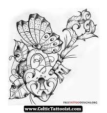 10 heart key tattoo designs