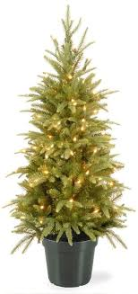 national tree company 4 ft pre lit artificial weeping spruce