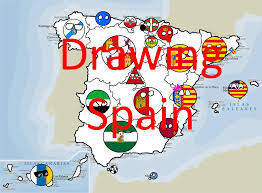 Map Of Spain by Drawing Map Of Spain Part 2 Polandballs Spanish Mapper Youtube