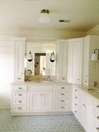 Bathroom Corner Vanity by Corner Bathroom Vanity Cabinet With Integrated Marble Sink Using