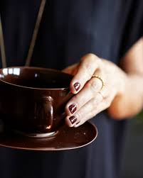 oxblood red nails a cup of jo