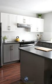 painted kitchen cabinets with white and benjamin moore chelsea