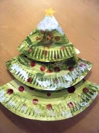 paper plate christmas tree church craft ideas pinterest