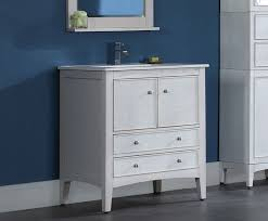 30 In Bathroom Vanity Kent 30 Inch Traditional Bathroom Vanity Whitewash Finish