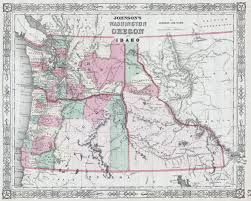 Map Of Washington by File 1864 Johnson Map Of Washington Oregon And Idaho