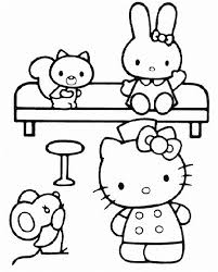 free coloring pages hello kitty and friends