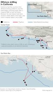 Santa Barbara California Map Trump U0027s Directive On Offshore Drilling Will Face Solid Resistance