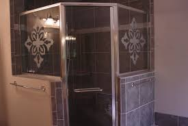 glass sealer for shower doors custom shower doors etched and painted