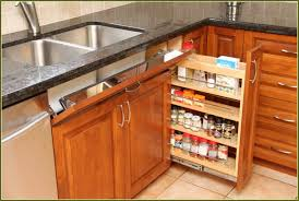sliding shelves for kitchen cabinets spice rack collection picture