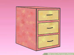 Pink Filing Cabinet 4 Ways To Give A File Cabinet A Makeover Wikihow