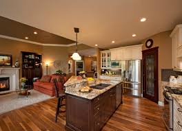 Open Kitchen Family Room Floor Plans Images About Kitchen Den Combo On Pinterest Family Rooms Open