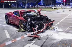 first ferrari first ferrari 458 speciale wrecked in berlin germany gtspirit