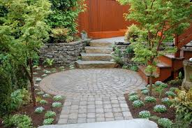 Patio Rocks Seattle Paver Patio Design Landscape Contemporary With Circular