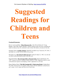Seeking Parents Guide Suggested Readings For Children And