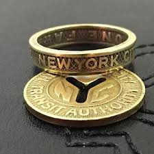 new jewelry rings images New york city subway token ring vintage sizes 4 5 to 11 coin jpg