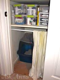 Curtains For A Closet by How To Hide A Litter Box Ask Anna Notes To Self Can U0027t Tolerate