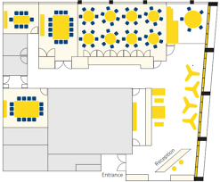 one floor plan venue hire conference centre at atria one society of scotland