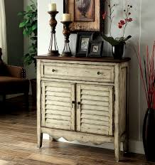 furniture of america antique white lillian country style entryway