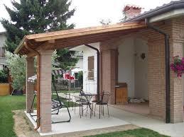 tettoie e pergolati in legno tettoia in legno e mattoni pergole tettoie porticati