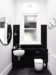 Houzz Black And White Bathroom Black Gloss Tiles Houzz