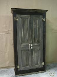 Reclaimed Wood Storage Cabinet Industrial Reclaimed Wood Storage Armoire In Graphite Gray On Etsy