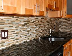 Kitchen Backsplash Blue Kitchen Backsplash Tile Cherry Cabinets Cherry Wood Kitchen