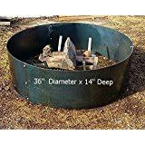 48 Fire Pit Ring by Amazon Com 48 Inch Fire Ring Wolves Steel Fire Pit Patio Lawn