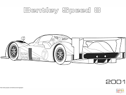 2001 bentley speed 8 coloring page free printable coloring pages