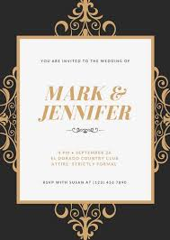 wedding invites wedding invitation templates canva