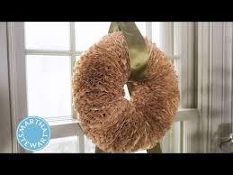 craft a wreath with coffee filters martha stewart