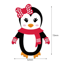 christmas penguin cutting dies for scrapbooking diy decor winter