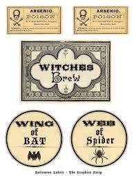 free printable halloween labels potions halloween printable