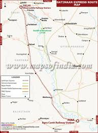 Banglore Metro Route Map by Gatimaan Express Route Map From Delhi To Agra