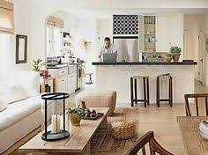 Open Concept Kitchen Living Room Small Space Love The Gray White And Yellow Color Scheme Of This Kitchen