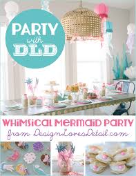 mermaid party ideas diy mermaid birthday party ideas by design detail