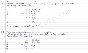 class 9 class ix cbse r d sharma solutions lines and angles cce