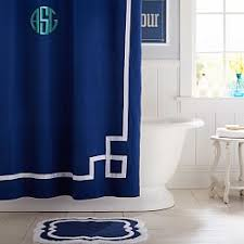 Navy And Red Shower Curtain Teen Shower Curtains Pbteen