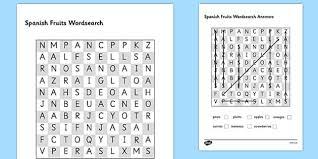 food writing pyramid activity sheet spanish worksheet