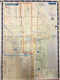 Chicago Trains Map by Chicago Cta Train Bus Map