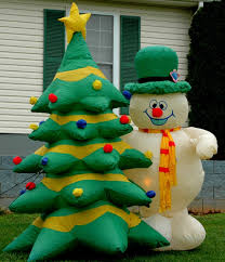 image gemmy 8ft frosty the snowman u0026 christmas tree lighted