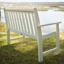 Outdoor Furniture Plastic by Plastic Patio Benches Foter