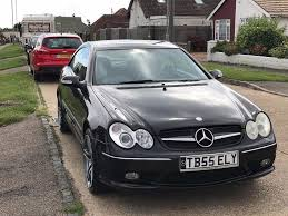 mercedes benz clk 320 amg styling black new mot recent