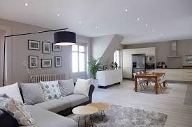 cuisine gris et blanc best salon blanc gris bois photos amazing house design