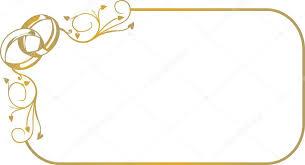 cadre photo mariage avec anneaux de mariage image vectorielle 2591179