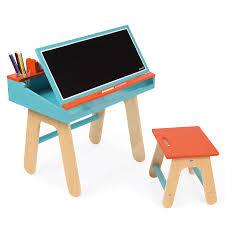 Schreibtisch 1 Meter Janod Schreibtisch Kombination Holz Blau Orange Online Kaufen