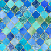 blue quatrefoil wallpaper quatrefoil fabric wallpaper gift wrap spoonflower