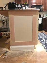 kitchen island shaker panels woodworking talk woodworkers forum